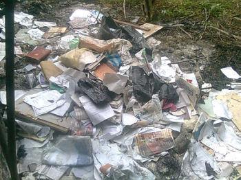 Some of burnt properties of DSM - photo Socialist Nigeria