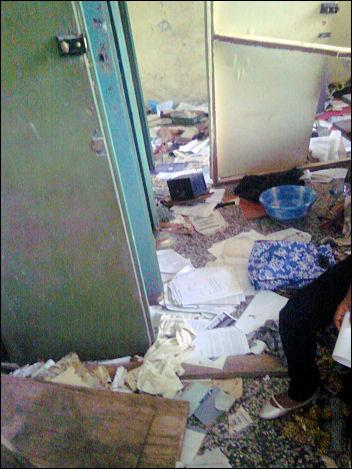 Vandalized secreteriat - photo Socialist Nigeria