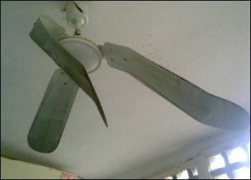Even ceiling fan was not spared - photo Socialist Nigeria