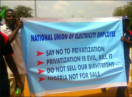 NLC Anti-privatization Protest - photo DSM