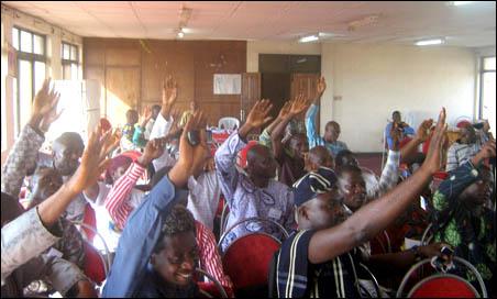 JAF members voting the new leadership - photo DSM
