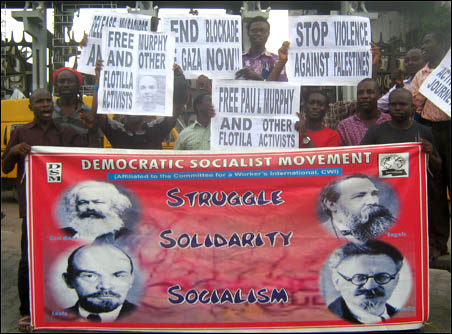 Flotilla Protest againt the detention of Paul Murphy in Lagos - photo DSM