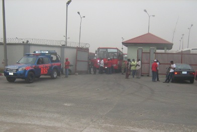 Toll gate depot grounded