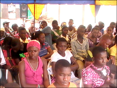 Cross section of students at ERC's 2012 Free Summer Coaching - photo DSM