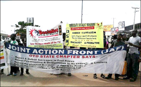 JAF led protest in Ibadan - photo DSM