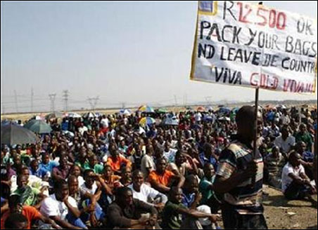 Lonmin workers in South African