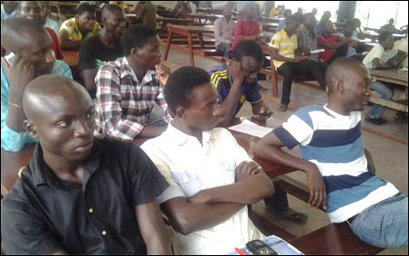 Students at the Education Rights Campaign Obafemi Awolowo University symposium, photo DSM