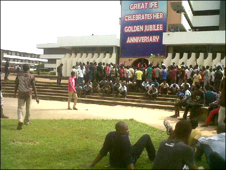 OAU student boycott, photo DSM
