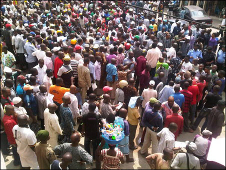 OKADA RIDERS PROTEST BAN AND VICTIMISATION - protesters - photo DSM