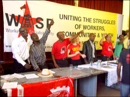 Launch of the Workers and Socialist Party (WASP), South Africa, 22 March 2013, photo S. Figg