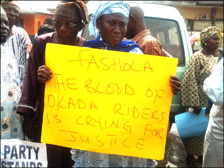 Babatunde Fashola Lagos state governor has banned commercial motorcycle okada on my roads in the state - photo DSM