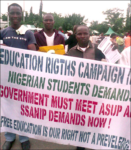 ERC members at Polytechnic Students Protest in Abuja, photo DSM