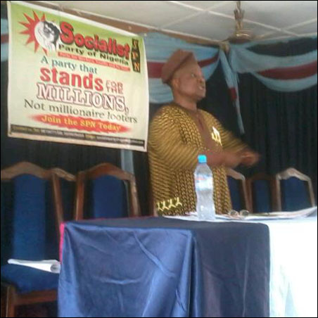 Segun Sango, SPN protem National Chairperson, photo DSM