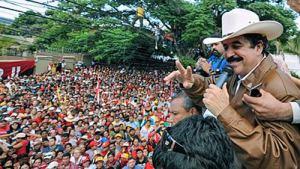 Zelaya addresses crowds in capital