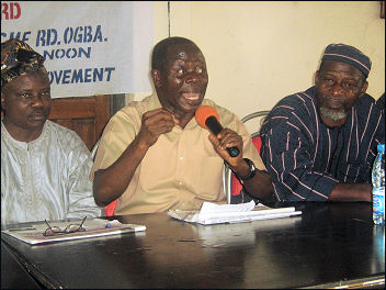Adams Oshiomhole, the former President of the Nigeria Labour Congress (NLC), chaired the occasion of Segun Sango
