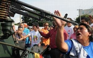 Mass protests faced violent repression