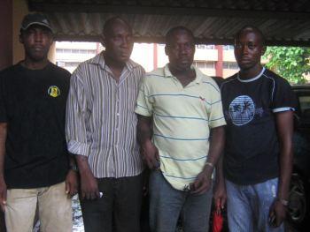 Mr. Mark Marvelous, Mr. Olanrewaju Babatunde, Mr. Toyin Taiwo and Mr. Jeffery Okosi (left to right) - the Lagbus 4