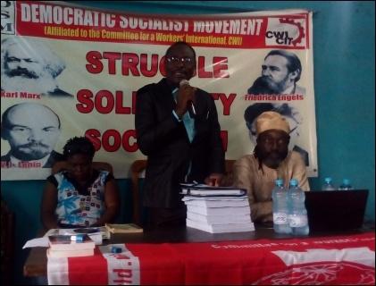 Toluwani Adebiyi addressing the Symposium - photo DSM