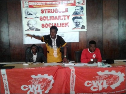 HT Soweto speaking at the meeting - photo DSM