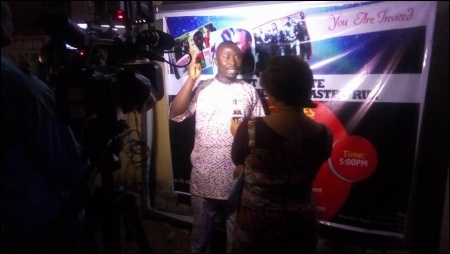 Dimeji Macaulay fielding questions from journalists about Fidel Castro - photo DSM