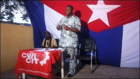 Babatunde Sankara leading the Abuja discussion - photo DSM