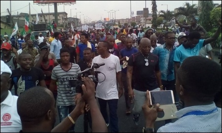 February 9 protest in Lagos