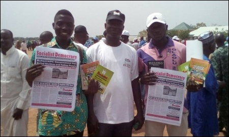 DSM members in Minna, Niger State, May Day - photo DSM