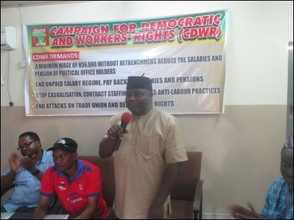TUC General Secretary Musa Lawal - photo DSM