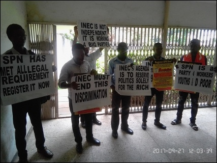 SPN members at National Human Rights Commission Southwest Office in Lagos - photo DSM