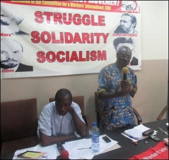 Lanre Arogundade suming-up the discussion on Nigeria - photo DSM