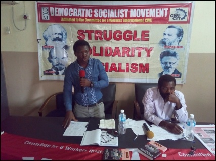 Abbey Trotsky summing up on Nigeria - photo DSM