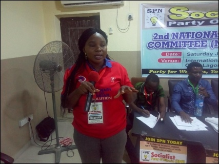 Shewa Adekoya, SPN member from Oyo state - photo DSM