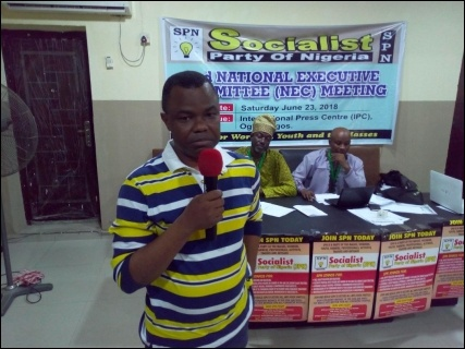 Adeyinka Olumide-Fusika, SPN's lawyer and leading member - photo DSM