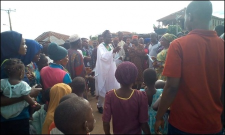 Alfred Adegoke taking the SPN campaign directly to ordinary people - photo DSM