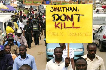 Jonathan don't kill education, photo by Yomi Amoo
