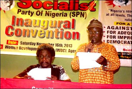 Segun Sango SPN National Chairperson, photo Uche Uwadinachi, member DSM