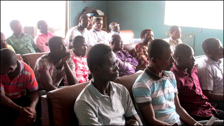 Members and visitors to Lagos state branch of the Democratic Socialist Movement (DSM)