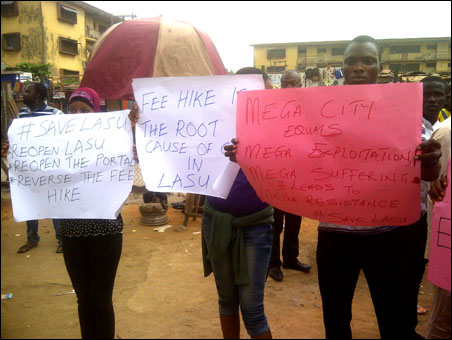 Protesting LASU Students, photo by DSM