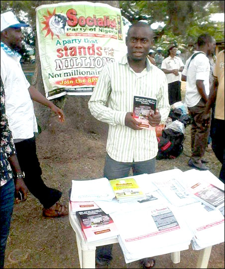 DSM Stand at 2014 Rivers State May Day Rally, photo by DSM
