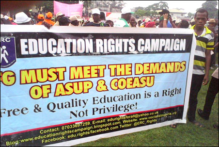 DSM stand in 2014 Lagos May Day Rally, photo by DSM