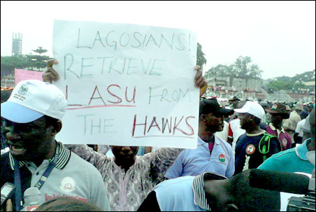 Protest against LASU Fees at 2014 Lagos May Day Rally_2, photo by DSM