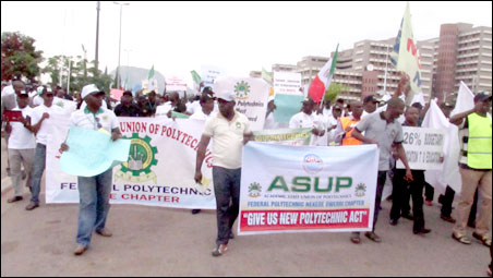 ASUP and COEASU Protest March, photo by DSM