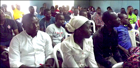 Cross section of comrades and supporters at DSM NC October 2014