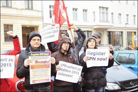 Protests in Nigeria and Europe against Non-Registration of SPN - Berlin, Germany