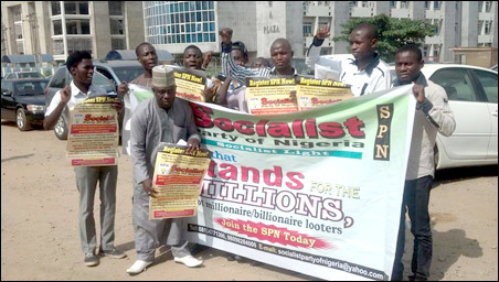 Protests in Nigeria and Europe against Non-Registration of SPN - Abuja