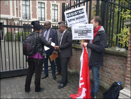 Protests in Nigeria and Europe against Non-Registration of SPN - Brussels, Belgium