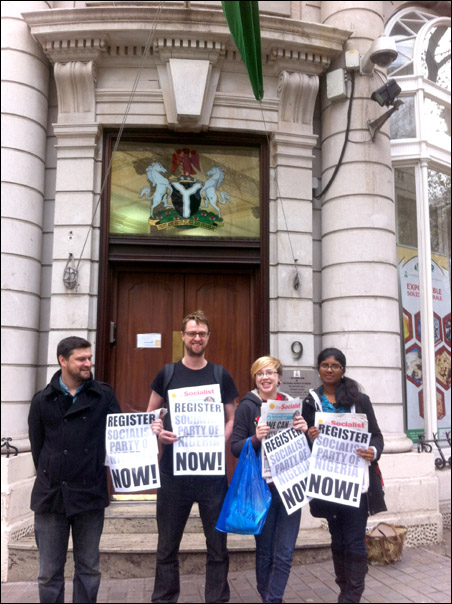 Protests in Nigeria and Europe against Non-Registration of SPN - London, Britain
