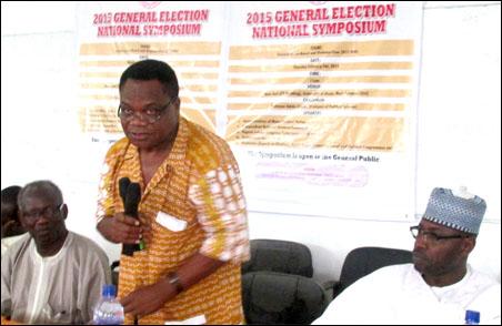Dr Dipo Fashina at ASUU 2015 election national symposium, photo DSM