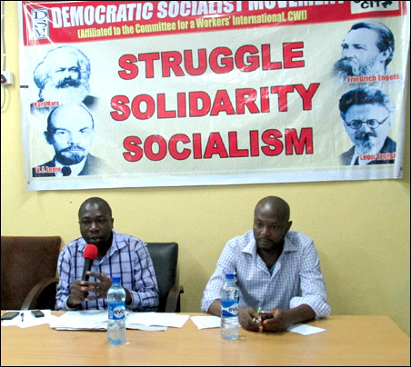 Ayo Ademiluyi introducing the discussion on Nigeria - photo DSM