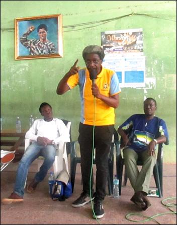 Dr Sola Olorunyomi representing ASUU President - photo DSM